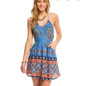 ROXY Dance To The Beat Boho Summer Sundress Dress